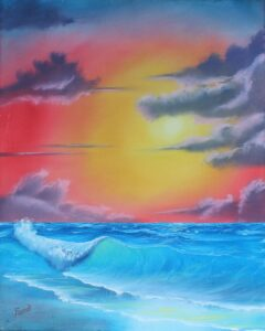 Brilliance is displayed in this wonderful seascape that catches the eye and the heart