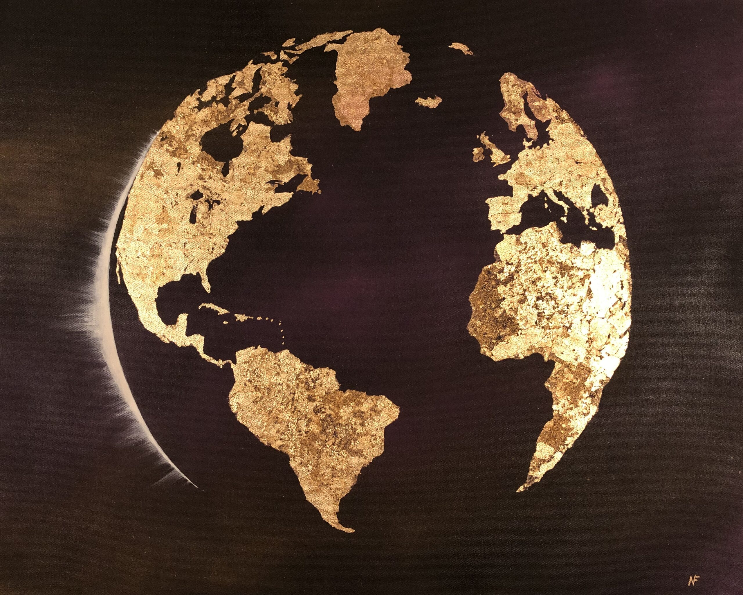 The Earth with both the Eastern and Western Hemispheres